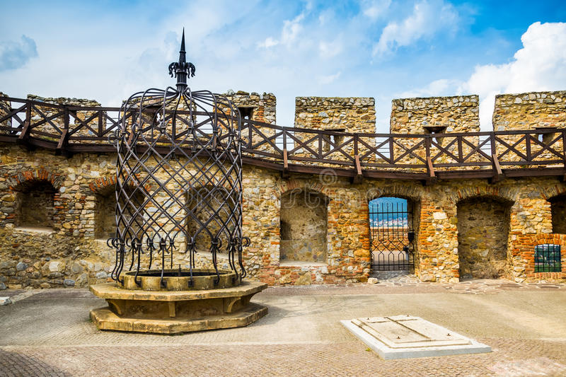 Walls and Well of Nitra Castle royalty free stock photos