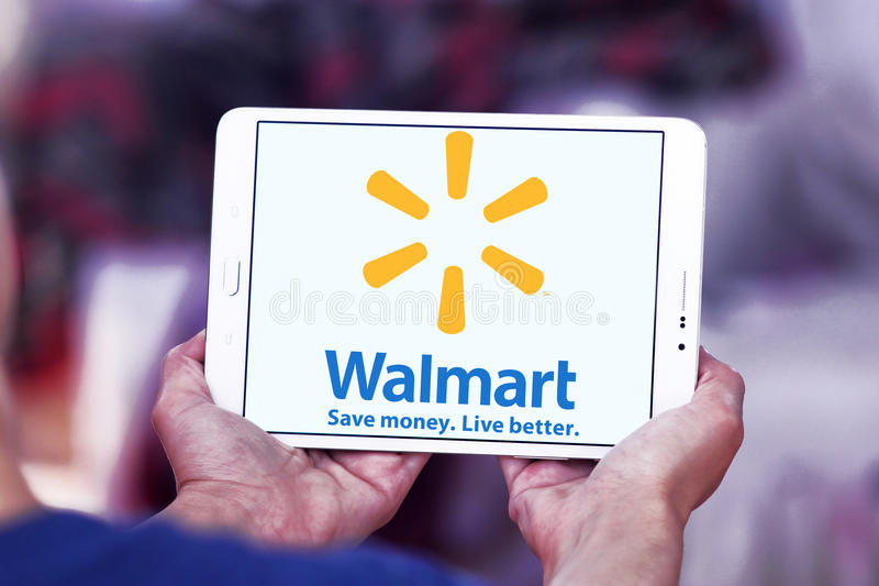 Walmart logo editorial stock image  Image of icons, retailer