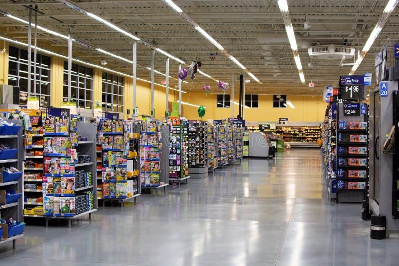 Walmart Sälja i minut Företag arkivfoton