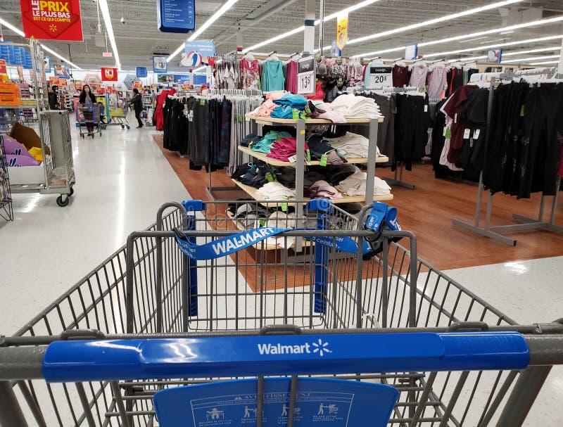 Walmart shoppingvagn fotografering för bildbyråer