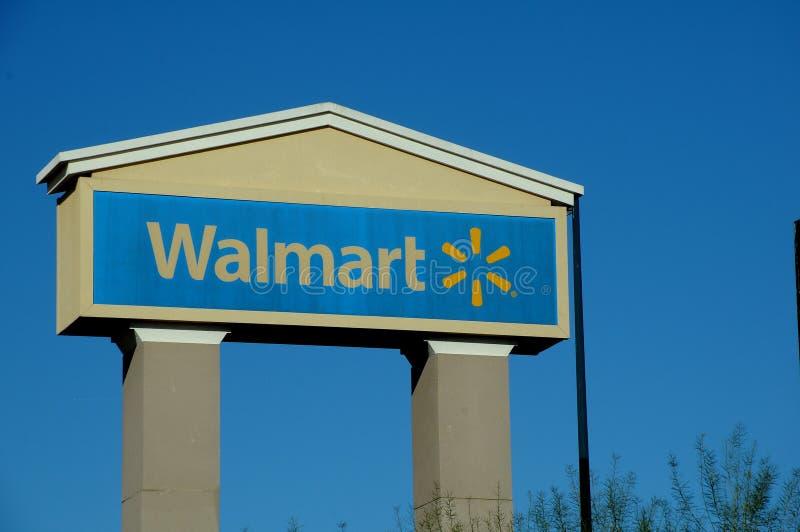 WALMART sklepu billboard W KINGMAN ARIZONA zdjęcie royalty free
