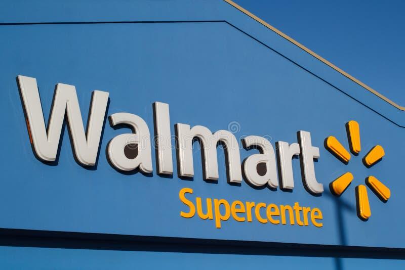 Walmart sklepu znak zdjęcie stock