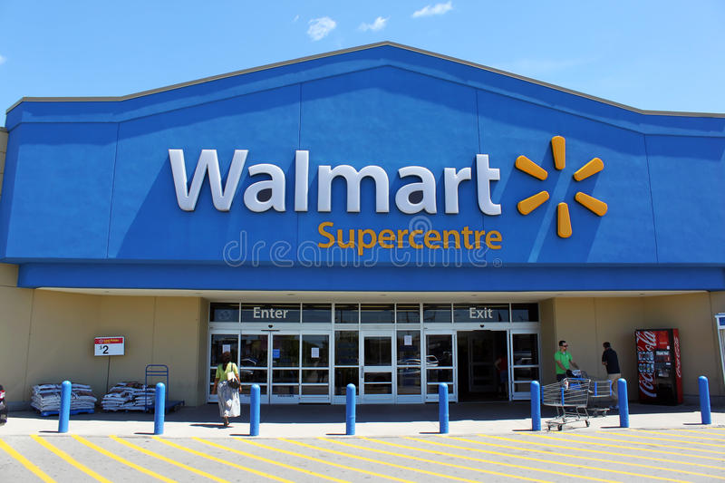 Download Walmart Supercentre editorial stock image. Image of discount - 33759909
