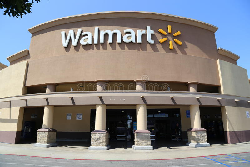 Walmartbuitenkant royalty-vrije stock afbeelding