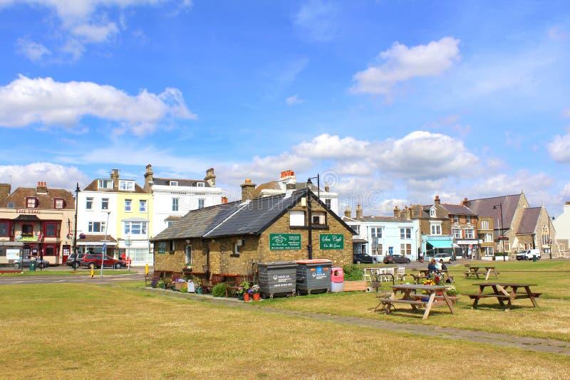Walmer沿海岸区咖啡馆肯特英国 图库摄影