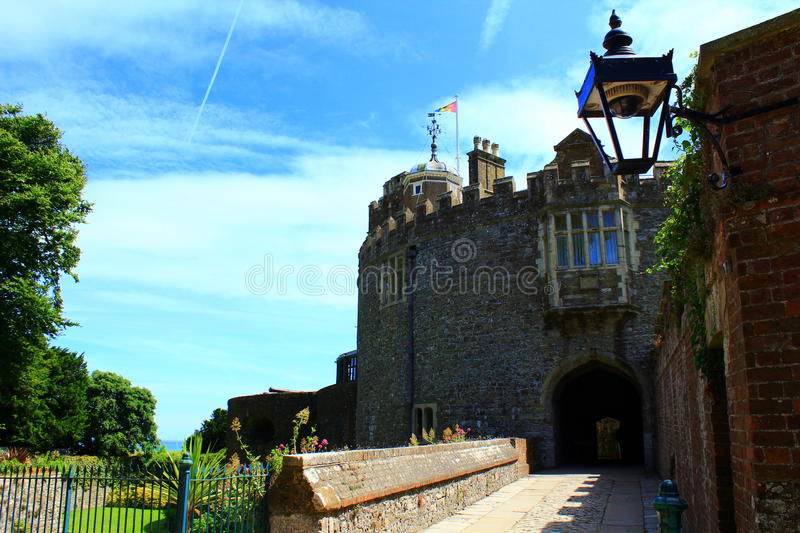 Walmer-Schloss Kent United Kingdom stockbild
