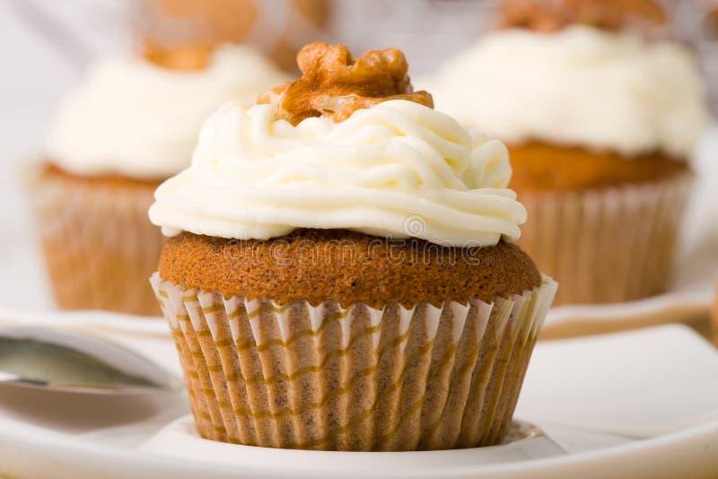 Walnuss-Muffins lizenzfreie stockfotografie