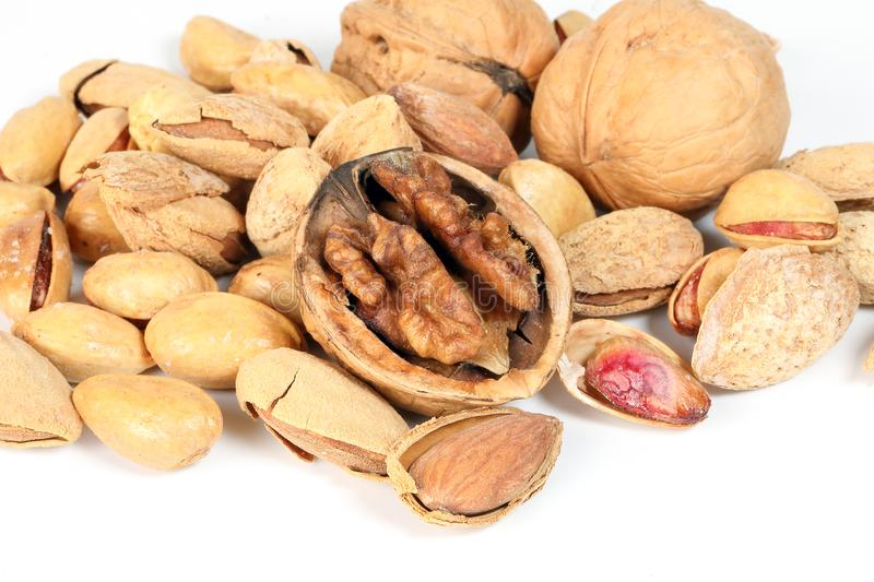 Walnut Almond pistachio royalty free stock photography