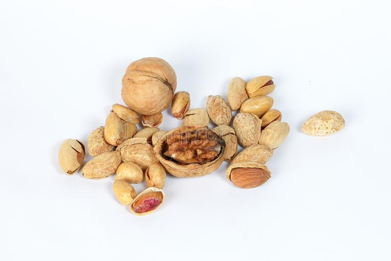 Walnut Almond pistachio stock images