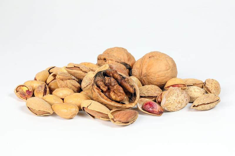 Walnut Almond pistachio stock photos