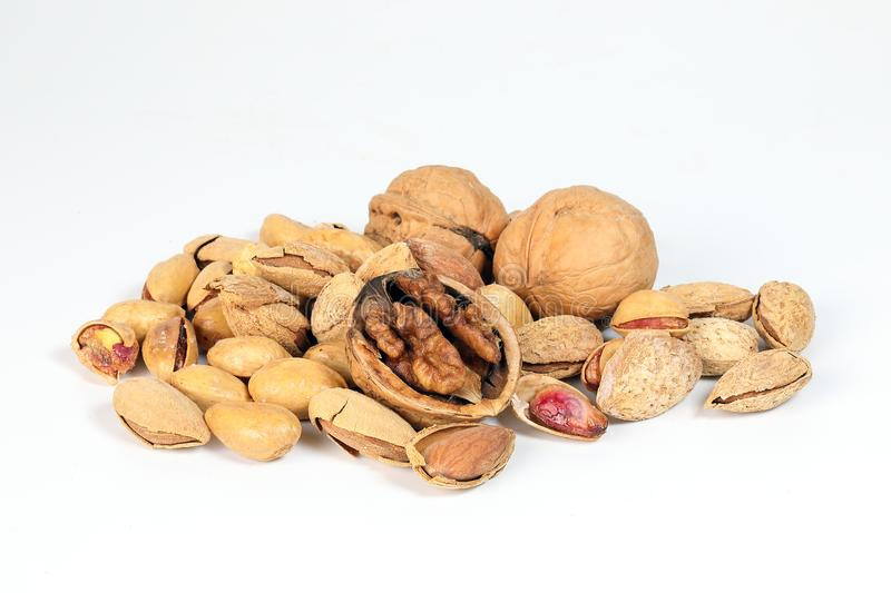Walnut Almond pistachio stock photography