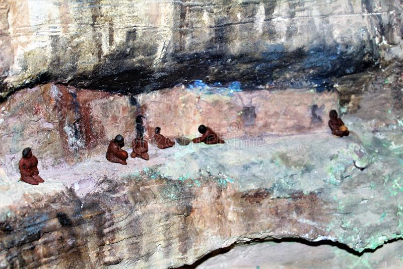 Walnut Canyon royalty free stock images