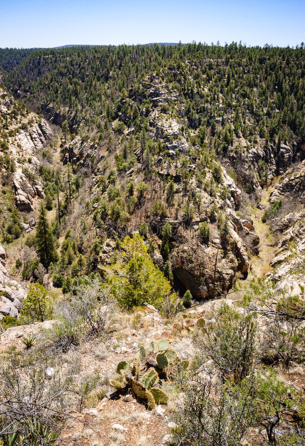Walnut Canyon National Monument royalty free stock photos