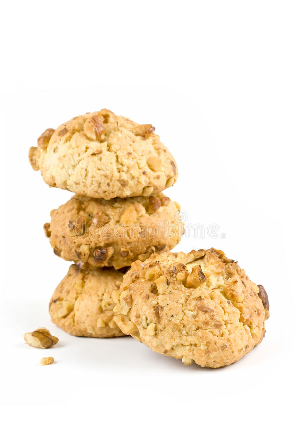 Walnut cookies stock photography