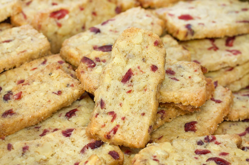 Walnut Cranberry Christmas Cookies royalty free stock image