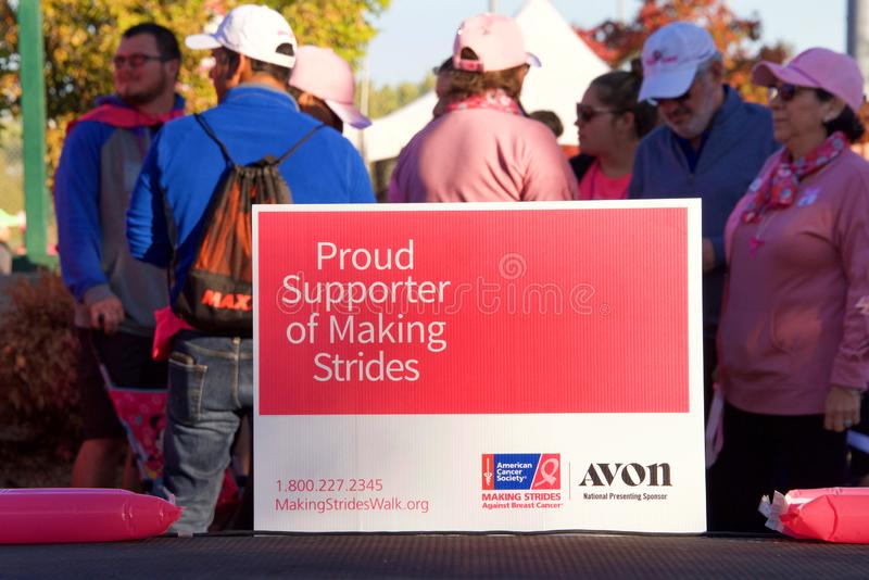 AVON Breast Cancer 5K walk for a cure in Walnut Creek, CA stock photos