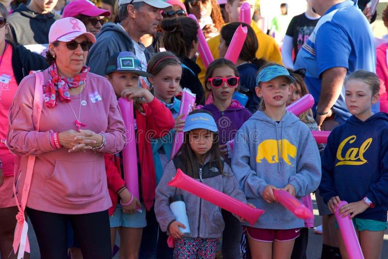 AVON Breast Cancer 5K walk for a cure in Walnut Creek, CA stock image