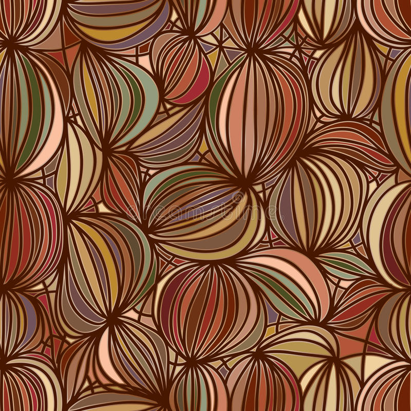 Walnut Seamless Pattern Stock Vector Image Of Brown