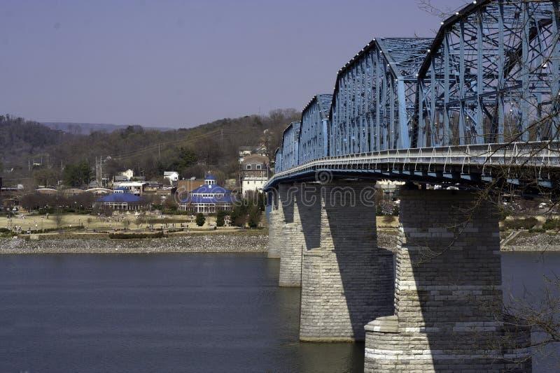 Walnut Street Bridge and Coolidge Park stock image