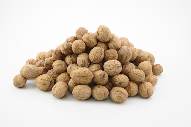 Walnuts. Isolated on a white background stock photo
