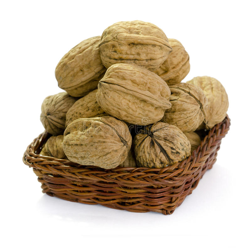 Download Walnuts in a Basket stock image. Image of ingredient - 28899241