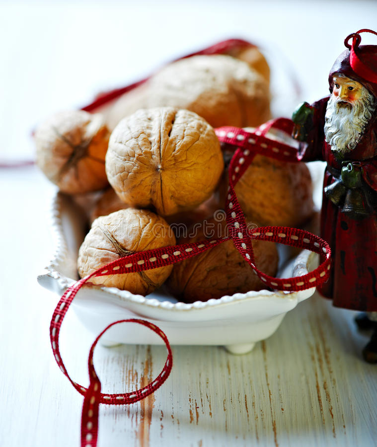 Walnuts For Christmas Royalty Free Stock Photo