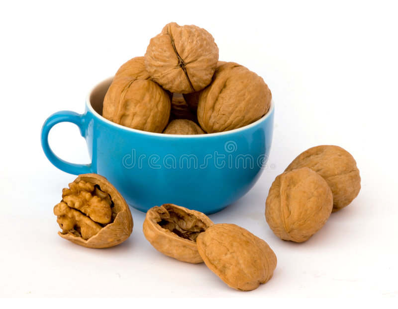 Download Walnuts in cup stock image. Image of background, healthy - 6950479
