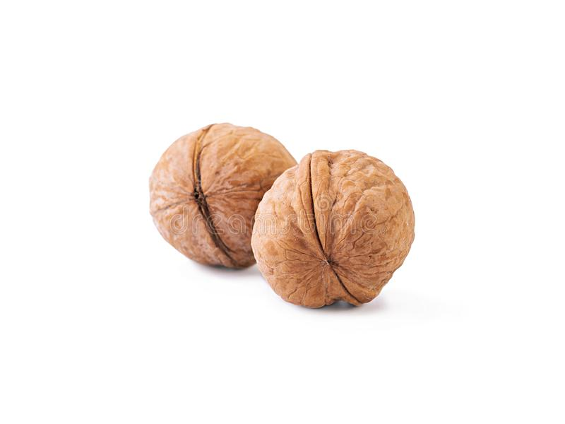 Walnuts isolated on a white background.  stock image