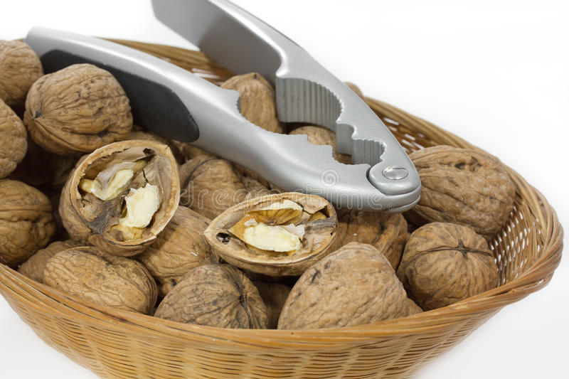 Download Walnuts in a small basket stock photo. Image of cuisine - 22272910