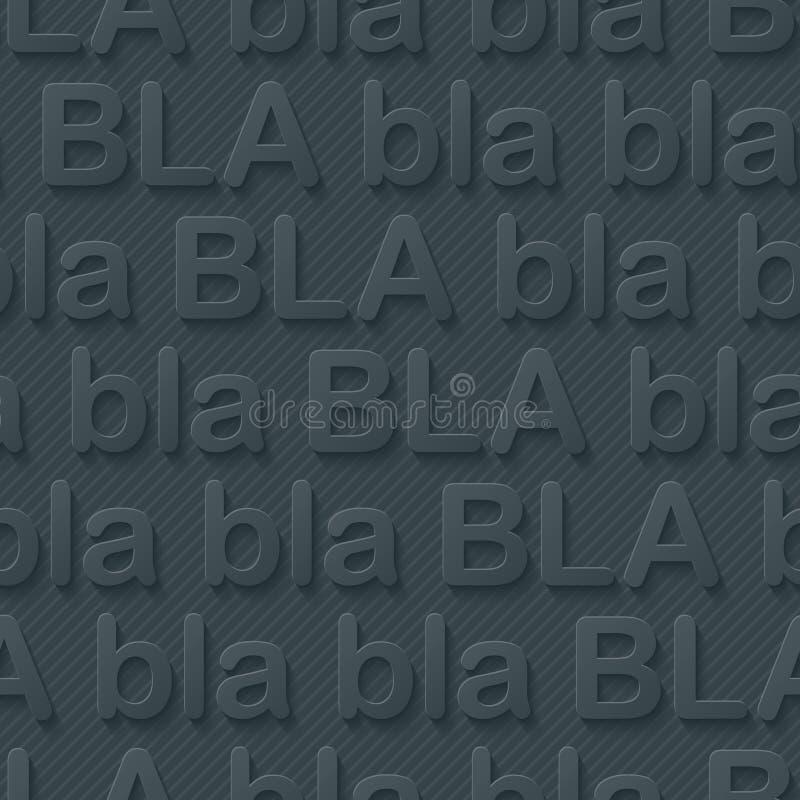 Walpaper de Bla-bla-bla ilustração royalty free