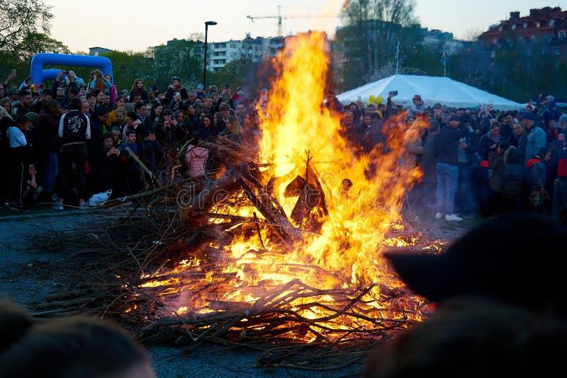 Walpurgisnacht in Stockholm, Schweden stockfoto