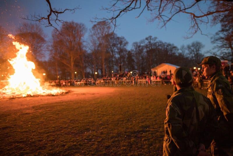 Walpurgisnachtfeuer stockbild