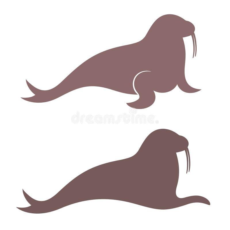 walrus stock abbildung