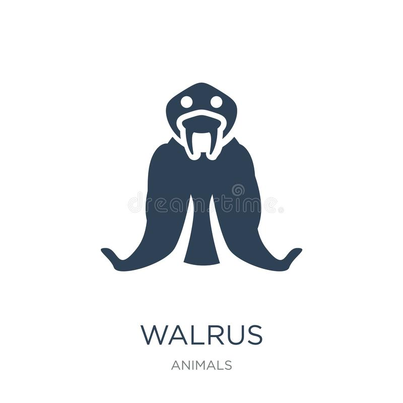 walrus icon in trendy design style. walrus icon isolated on white background. walrus vector icon simple and modern flat symbol for vector illustration
