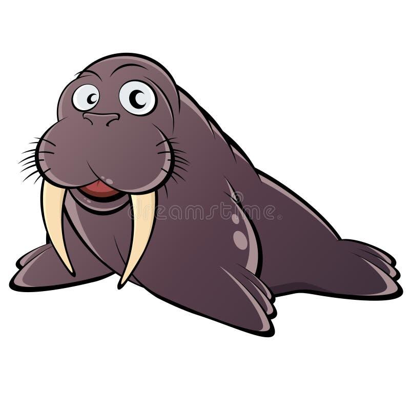 Download Walrus Illustration stock vector. Image of computer, animal - 22942493