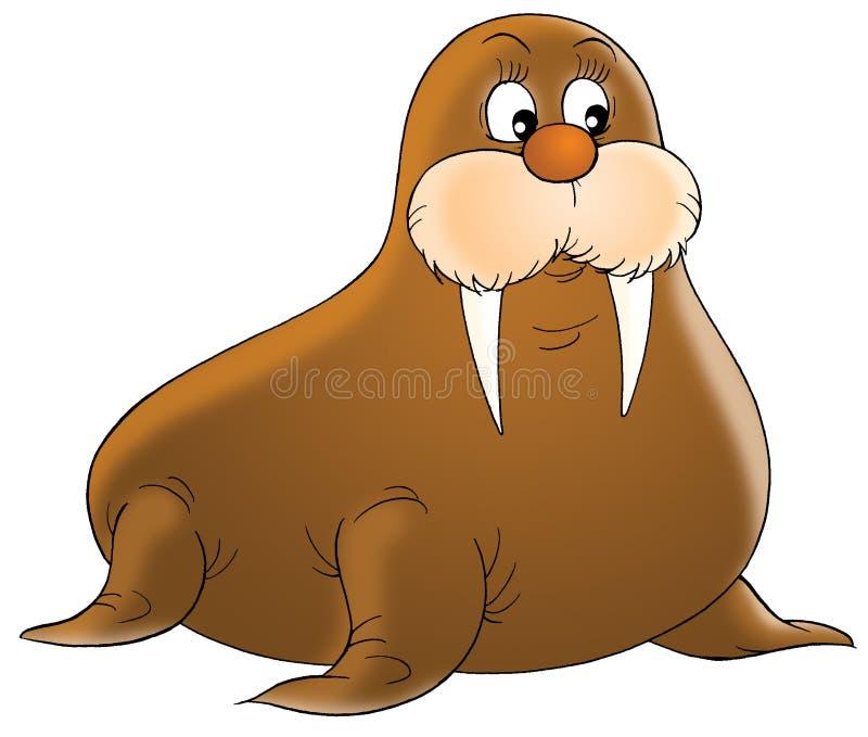 Walrussen royalty-vrije illustratie