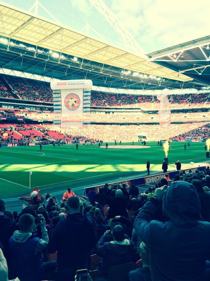 Walsall del estadio de Wembley contra Bristol City fotos de archivo libres de regalías