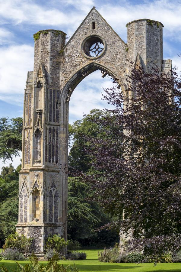 Walsingham opactwa ruiny fotografia royalty free