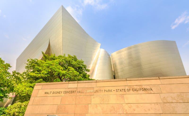 Walt Disney Concert Hall fotografie stock