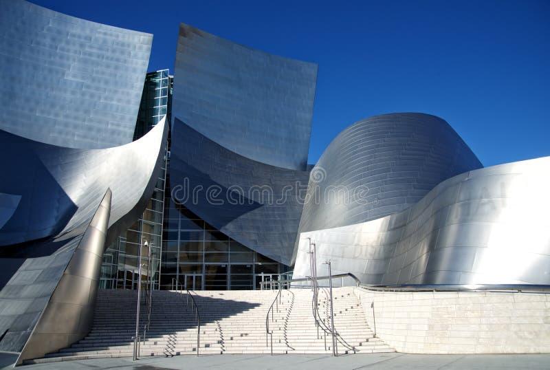Walt Disney Concert Hall binnen de stad in van Los Angeles royalty-vrije stock afbeelding