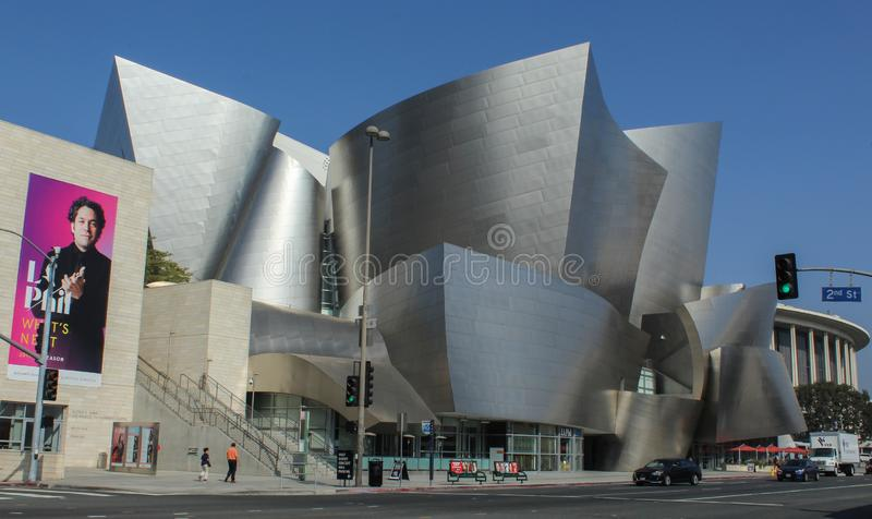 Walt Disney Concert Hall, Designed by Frank Gehry, Downtown Los Angeles stock photos