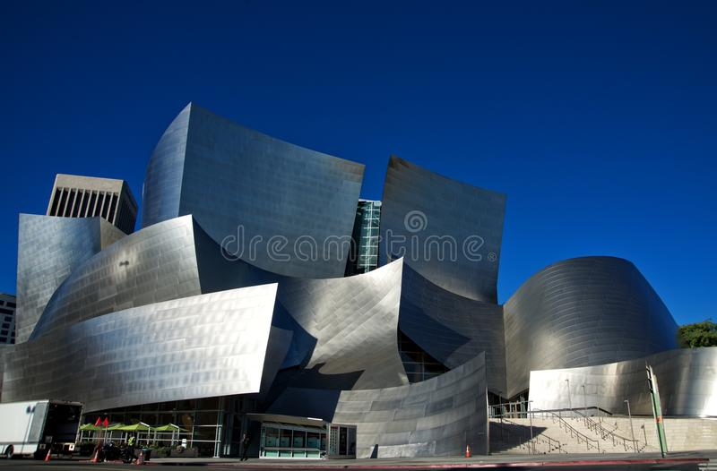 Walt Disney Concert Hall in Downtown of Los Angeles royalty free stock images