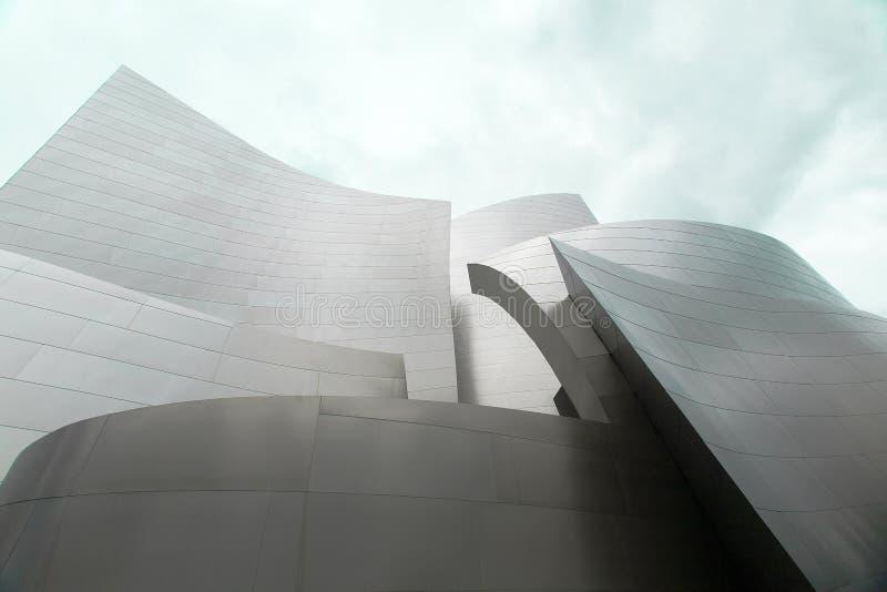 Walt Disney Concert Hall by Frank Gehry in Los Angeles. LOS ANGELES, USA - MAY 2015 Walt Disney Concert Hall by Frank Gehry in Los Angeles stock image