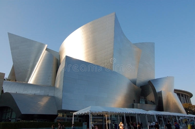 Walt Disney Concert Hall Los Angeles stock photography