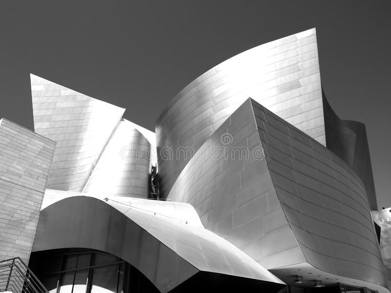 Walt Disney Concert Hall in Los Angeles royalty free stock photography