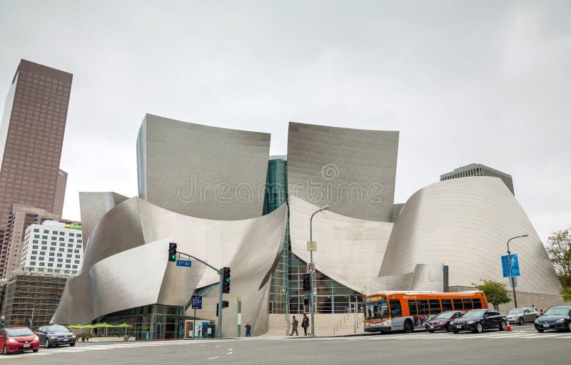 Walt Disney Concert Hall a Los Angeles, CA fotografia stock libera da diritti