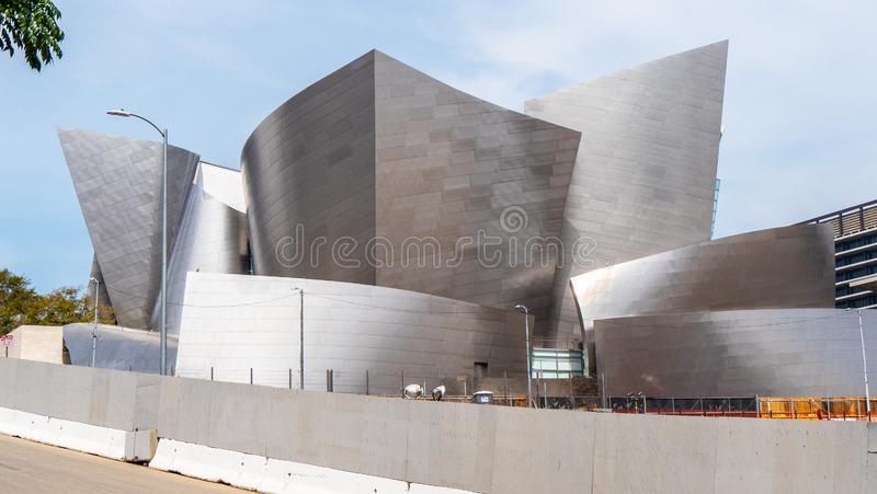 Walt Disney Concert Hall in Los Angeles - KALIFORNIEN, USA - 18. M?RZ 2019 lizenzfreie stockfotos