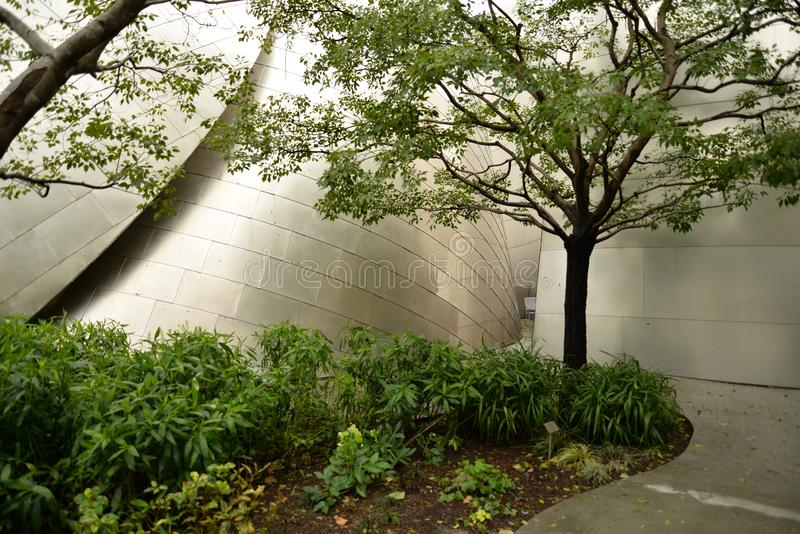 Walt Disney Concert Hall Los Angeles, USA royaltyfria bilder
