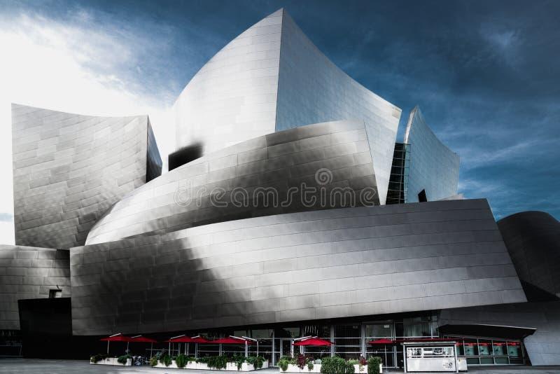 Walt Disney Concert Hall, van de binnenstad van Los Angeles, Californië stock afbeeldingen