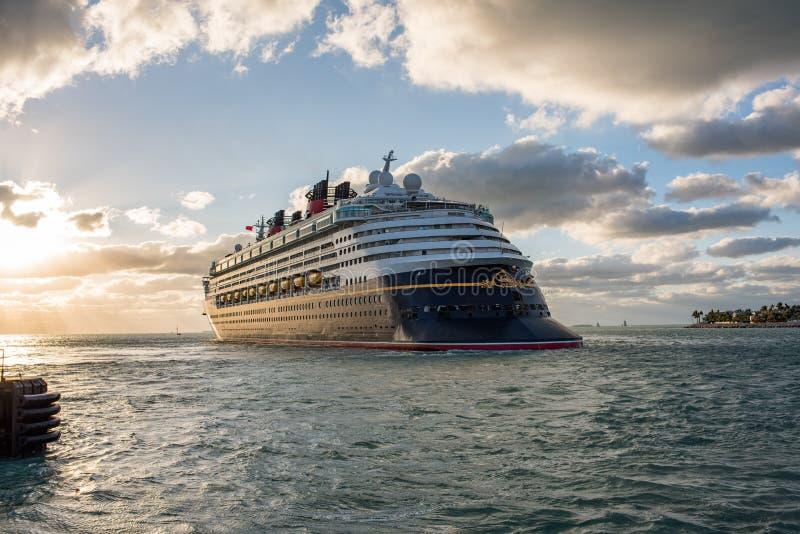 Walt Disney Cruise Ship stock afbeelding